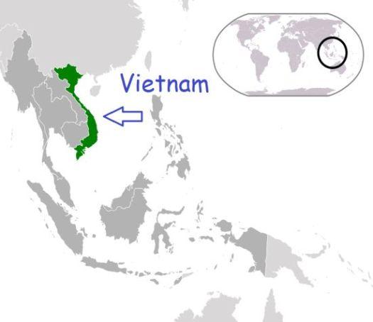 Vietnam Map, Peta Vietnam