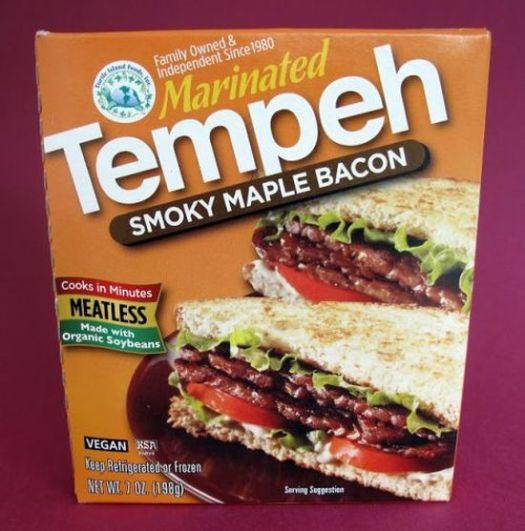 Tempeh, healthy nutrious vegan food