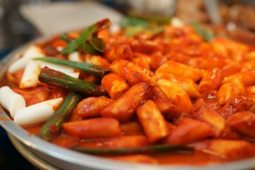 Tteokbokki korean food spicy